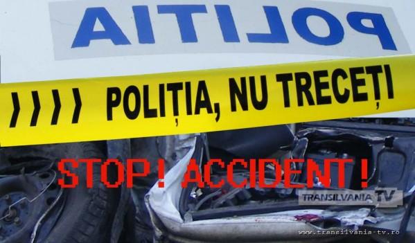 Accident grav produs din cauza vitezei, între localitățile Cristolțel și Cristolț