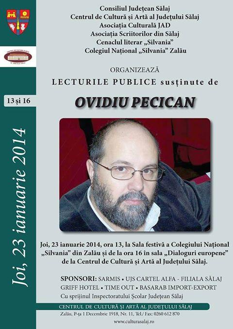 Lecturi publice Ovidiu Pecican (joi 23 ianuarie)