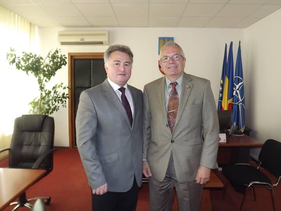 Corneliu Chișu, deputat în Parlamentul Canadei, în vizită la Prefectura Sălaj