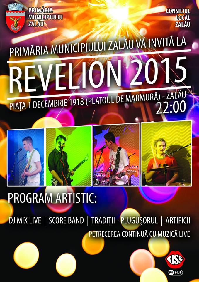 Revelion 2015 în Piața 1 Decembrie 1918 din Zalău
