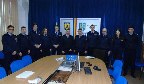 Elevi și studenți, în practică la Inspectoratul de Jandarmi Judeţean Sălaj