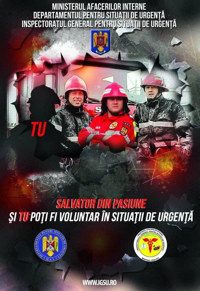 """ISU Sălaj a demarat o nouă acțiune de recrutare de voluntari, în cadrul proiectului """"Salvator din pasiune"""""""