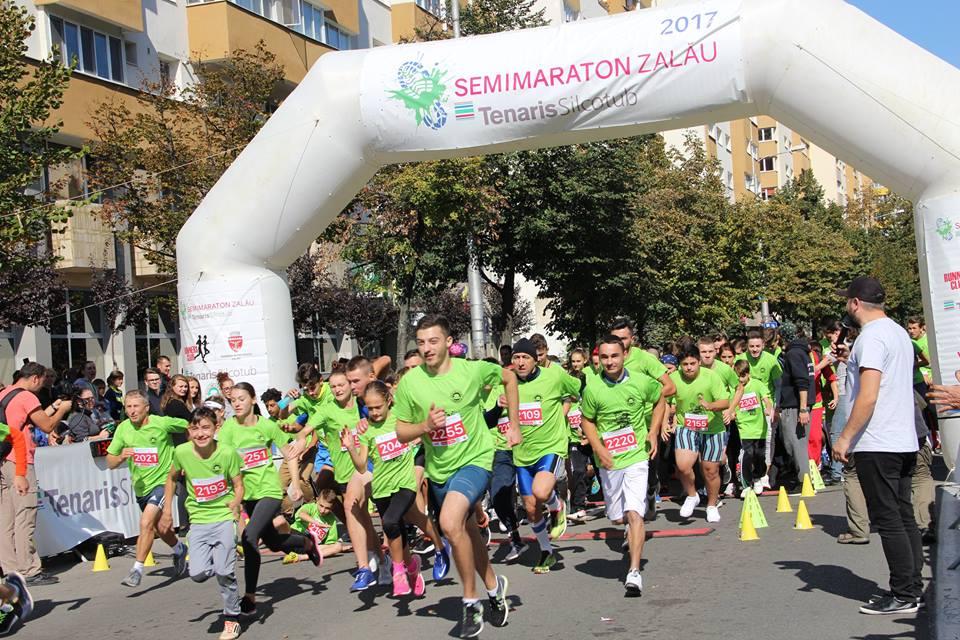 Atleți din nouă țări au luat startul la Semimaratonul Zalău 2017