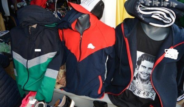 Peste 200 de articole de îmbrăcăminte și încălțăminte contrafăcute, depistate de polițiștii sălăjeni