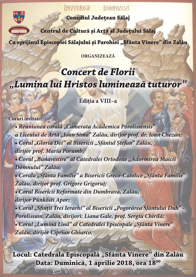"""Concert de Florii la Catedrala """"Sfânta Vinere"""" din Zalău"""