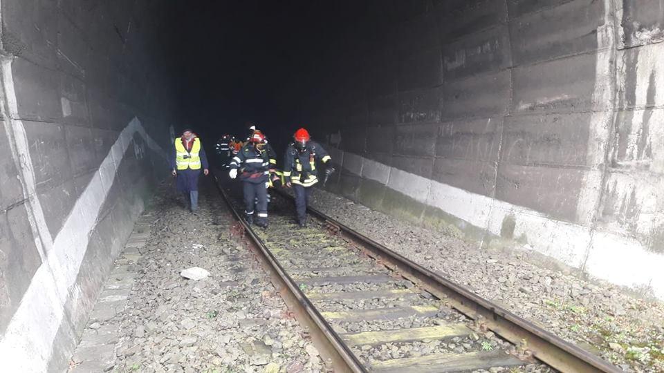 Exercițiu efectuat de ISU Sălaj și ISU Cluj în tunelul de cale ferată din apropierea localităţii Stana