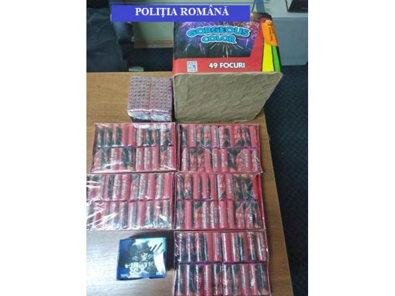 Mii de articole pirotehnice confiscate de polițiștii sălăjeni