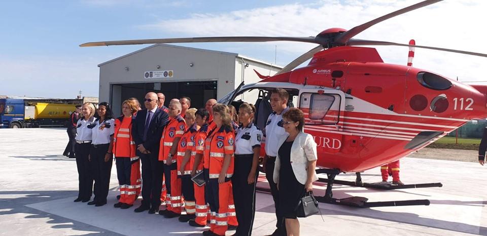 O nouă bază aeriană de salvare SMURD la Jibou
