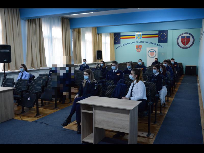 Studenţi de la Academia de poliţie în practică la Inspectoratul de Poliţie Judeţean Sălaj