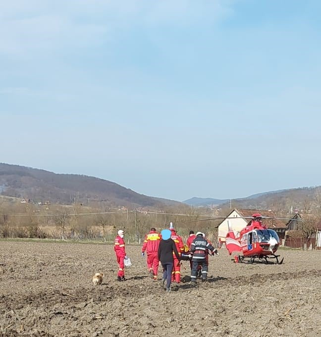 Sălăjean dus cu elicopterul SMURD