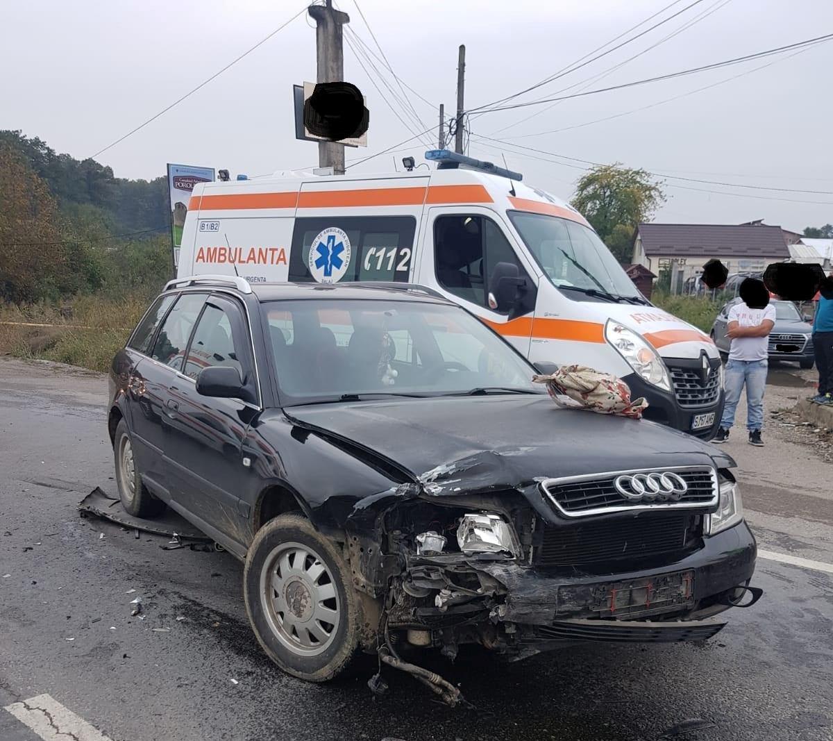 Trei autoturisme implicate într-un accident produs în județul Sălaj